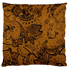 Art Traditional Batik Flower Pattern Large Flano Cushion Case (two Sides) by BangZart