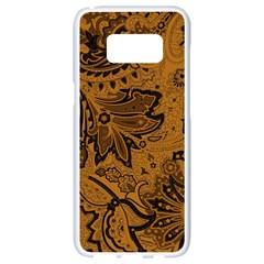 Art Traditional Batik Flower Pattern Samsung Galaxy S8 White Seamless Case by BangZart