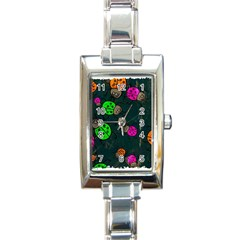 Abstract Bug Insect Pattern Rectangle Italian Charm Watch by BangZart
