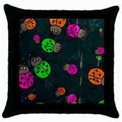 Abstract Bug Insect Pattern Throw Pillow Case (black) by BangZart