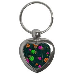 Abstract Bug Insect Pattern Key Chains (heart)  by BangZart