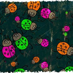Abstract Bug Insect Pattern Magic Photo Cubes by BangZart