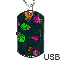 Abstract Bug Insect Pattern Dog Tag Usb Flash (one Side) by BangZart