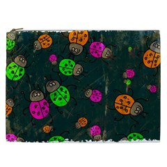 Abstract Bug Insect Pattern Cosmetic Bag (xxl)  by BangZart