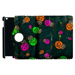 Abstract Bug Insect Pattern Apple Ipad 3/4 Flip 360 Case by BangZart