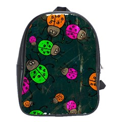 Abstract Bug Insect Pattern School Bags (xl)  by BangZart