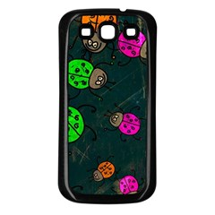 Abstract Bug Insect Pattern Samsung Galaxy S3 Back Case (black) by BangZart