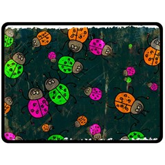 Abstract Bug Insect Pattern Double Sided Fleece Blanket (large)  by BangZart