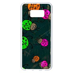 Abstract Bug Insect Pattern Samsung Galaxy S8 Plus White Seamless Case