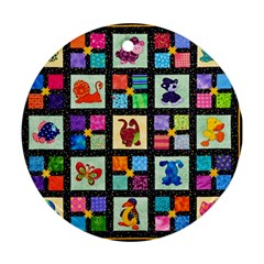 Animal Party Pattern Ornament (round) by BangZart