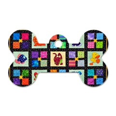 Animal Party Pattern Dog Tag Bone (one Side) by BangZart