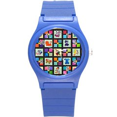 Animal Party Pattern Round Plastic Sport Watch (s) by BangZart