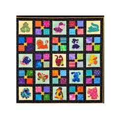 Animal Party Pattern Small Satin Scarf (square) by BangZart