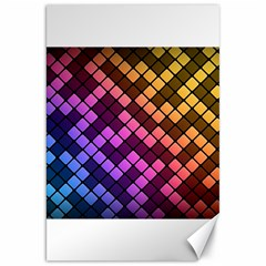 Abstract Small Block Pattern Canvas 20  X 30   by BangZart