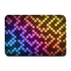 Abstract Small Block Pattern Plate Mats by BangZart