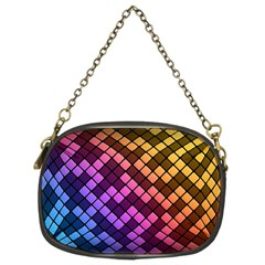 Abstract Small Block Pattern Chain Purses (two Sides)