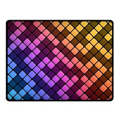 Abstract Small Block Pattern Fleece Blanket (small) by BangZart