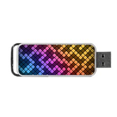 Abstract Small Block Pattern Portable Usb Flash (one Side) by BangZart