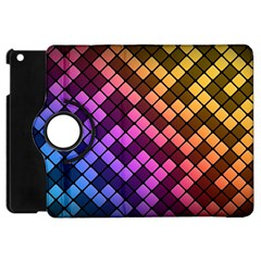 Abstract Small Block Pattern Apple Ipad Mini Flip 360 Case by BangZart