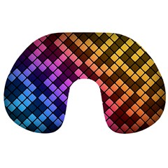 Abstract Small Block Pattern Travel Neck Pillows by BangZart