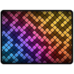 Abstract Small Block Pattern Double Sided Fleece Blanket (large)  by BangZart