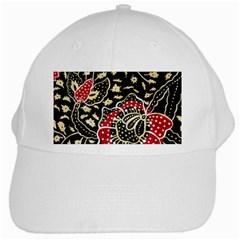 Art Batik Pattern White Cap by BangZart