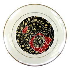 Art Batik Pattern Porcelain Plates by BangZart