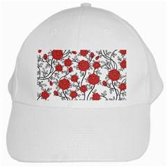 Texture Roses Flowers White Cap by BangZart