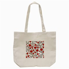 Texture Roses Flowers Tote Bag (cream) by BangZart