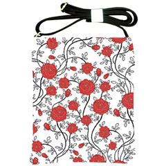 Texture Roses Flowers Shoulder Sling Bags by BangZart