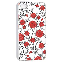 Texture Roses Flowers Apple Iphone 4/4s Seamless Case (white) by BangZart