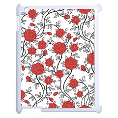 Texture Roses Flowers Apple Ipad 2 Case (white) by BangZart