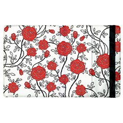 Texture Roses Flowers Apple Ipad 2 Flip Case by BangZart