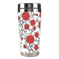 Texture Roses Flowers Stainless Steel Travel Tumblers by BangZart