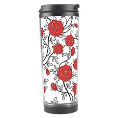 Texture Roses Flowers Travel Tumbler by BangZart