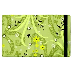 Flowers On A Green Background                      Kindle Fire (1st Gen) Flip Case by LalyLauraFLM