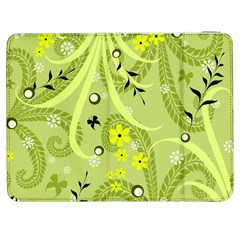 Flowers On A Green Background                      Htc One M7 Hardshell Case by LalyLauraFLM