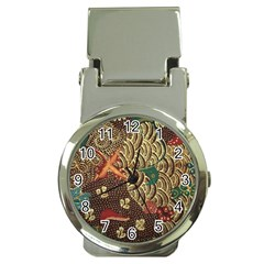 Art Traditional Flower  Batik Pattern Money Clip Watches by BangZart