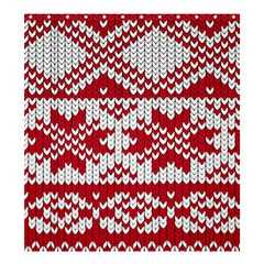 Crimson Knitting Pattern Background Vector Shower Curtain 66  X 72  (large)  by BangZart