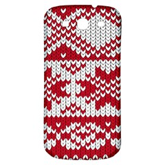 Crimson Knitting Pattern Background Vector Samsung Galaxy S3 S Iii Classic Hardshell Back Case by BangZart