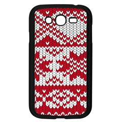Crimson Knitting Pattern Background Vector Samsung Galaxy Grand Duos I9082 Case (black) by BangZart