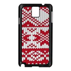 Crimson Knitting Pattern Background Vector Samsung Galaxy Note 3 N9005 Case (black) by BangZart