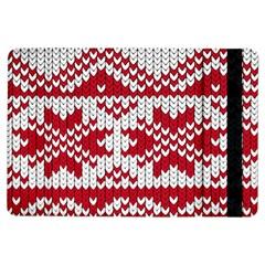 Crimson Knitting Pattern Background Vector Ipad Air Flip by BangZart