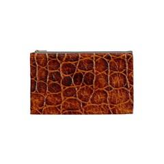 Crocodile Skin Texture Cosmetic Bag (small)  by BangZart