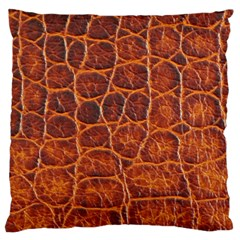 Crocodile Skin Texture Large Cushion Case (two Sides) by BangZart