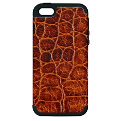 Crocodile Skin Texture Apple Iphone 5 Hardshell Case (pc+silicone) by BangZart