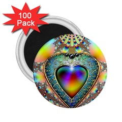 Rainbow Fractal 2 25  Magnets (100 Pack)  by BangZart
