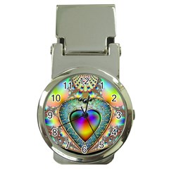 Rainbow Fractal Money Clip Watches by BangZart