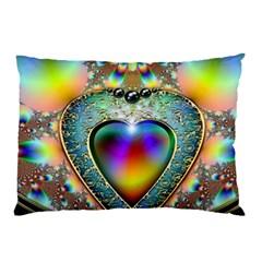 Rainbow Fractal Pillow Case by BangZart