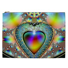 Rainbow Fractal Cosmetic Bag (xxl)  by BangZart